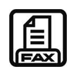 fax machine icon for email signature